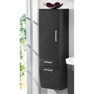 Badmöbel Badezimmer Gästebad Hochschrank Rima, geschwungene Hochglanz MDF-Fronten - Vorschau 2