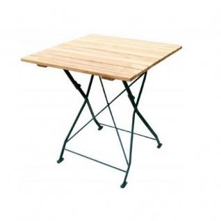 Klapptisch Holztisch Gartentisch Tisch, Gestell dunkel Grün 70x70 cm