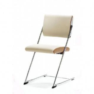 Mayer Stuhl JET LINE 2125 chrom Sitz und Rücken gepolstert Bezugskombination