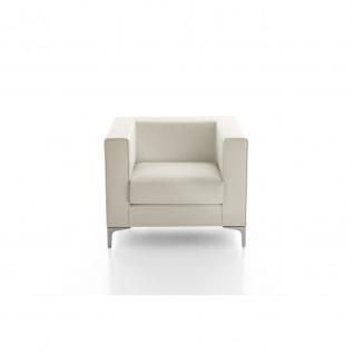 Design Sessel Lounge Klasse einfarbig Gestell verchromt
