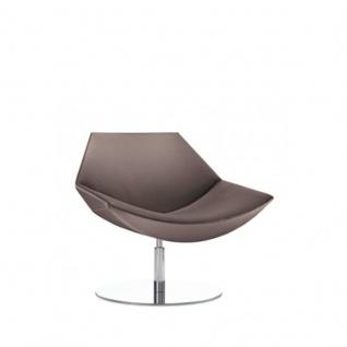 Design Lounge Sessel Mehrzwecksessel Kayak Fußsäule und Bodenteller verchromt einfarbig niedrige Lehne