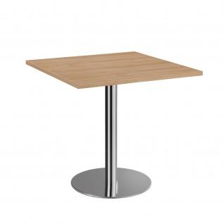 Bistro Tisch Beistelltisch Besprechungstisch 88 chrom 80 x 80 cm - Vorschau 4