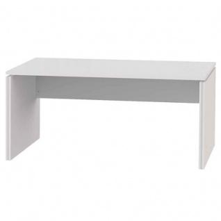 Büro Schreibtisch BRW 5+ alpinweiß mit Wangen verschiedene Größen