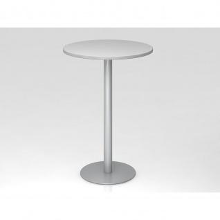 Bistro Tisch Stehtisch Besprechungstisch 08 silber 80 cm Durchmesser - Vorschau 2
