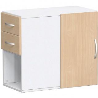 Gera Anstellregal Anstellcontainer Regal 2 OH inkl. Schubkästen und Tür - Vorschau 5