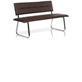 Lounger Sitzbank Sofa Canada Gestell Chrom Kunstleder 2, 5 Sitzer