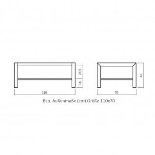 Moderner Massivholz Couchtisch CT 066 mit Edelstahl-Kufen - Vorschau 3