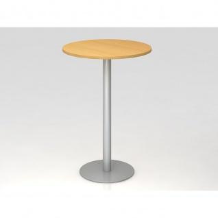 Bistro Tisch Stehtisch Besprechungstisch 08 silber 80 cm Durchmesser - Vorschau 3