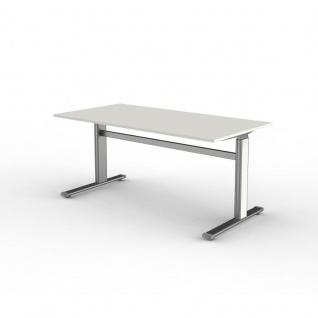 Büro Schreibtisch Stehtisch Form 4, 160x80x72-114 cm C-Fuß-Gestell Typ D elektrisch höhenverstellbar