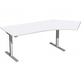 Elektro Flex Winkel-Schreibtisch 135° rechts oder links elektrisch höhenverstellbar 2166 x1130 mm diverse Dekore - Vorschau 4