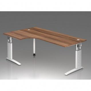 Büro Schreibtisch 200x120 cm Winkelform Modell US82 mech. Höheneinstellung