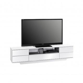 Maja Lowboard TV Board 77115647 i weiss Hochglanz - schwarz Hochglanz Maße 1996 x 460 x 400 mm