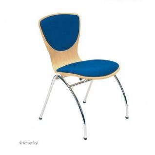 Bistrostuhl Besucherstuhl Objektstuhl Bingo Plus CR 4-Bein-Stuhl verchromt Sitz-und Rückenpolster