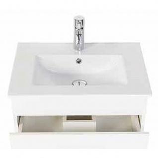 Badmöbel Badezimmer Waschbecken Waschplatz Silvanus 600 weiß matt