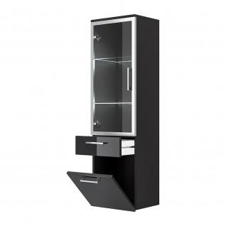 Badmöbel Badezimmer Gästebad Hochschrank Rima, mit Glastür, gerader Unterbau - Vorschau 2