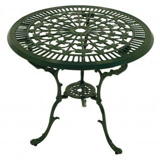 Tisch Jugendstil 70cm rund Aluguss dunkelgrün