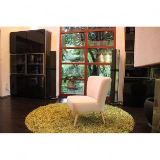 Toms Trendmoebel Sessel Relaxsessel Retrosessel Dobby II Massiv Stoff Chilly 01 beige
