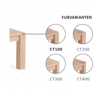 Massivholz Couchtisch CT100B mit Ablageboden Wildeiche - Vorschau 5