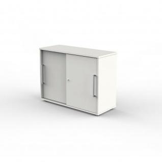 Kerkmann Schiebetürenschrank Büroschrank 4495 Form 4 weiß 2 Ordnerhöhen abschließbar 100 x 40 x 75 cm