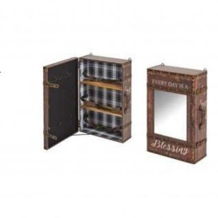 Wandregal Case 1, mit Spiegel MDF PU bezogen, Ablagen Furnier Maße: 40x19x60(H)cm