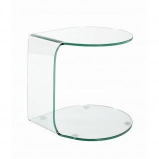 Beistelltisch Couchtisch Glastisch Klarglas (B)47x(T)45x(H)51 - Vorschau 3