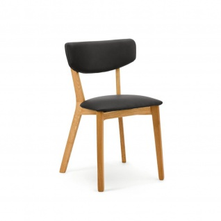 Edler Design Esszimmerstuhl Lea 1 Gestell Holz Kunstleder