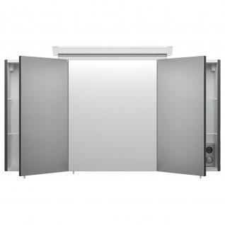 Posseik Design-LED-Spiegelschrank 120cm anthrazit seidenglanz