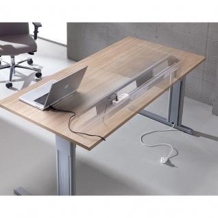 Schreibtisch Bürotisch E10 Toro Tiefe 80 cm C-Fuß-Gestell Stahltraverse als Kabelkanal