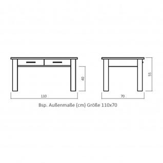 Massivholz Couchtisch CH130 mit 1 Schublade Kernbuche/Buche - Vorschau 3