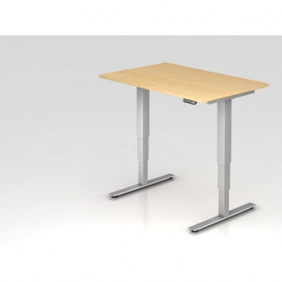 Büro Schreibtisch Stehtisch höhenverstellbar 120x80 cm Modell XDSM12 mit Memory-Schalter