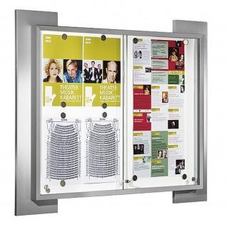 Kerkmann Schaukasten 6522 Look 8x DIN A4 abschließbar alufarben