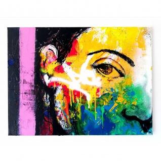 Modernes PopArt Gemälde Bild Motiv Silhouette 80x60cm