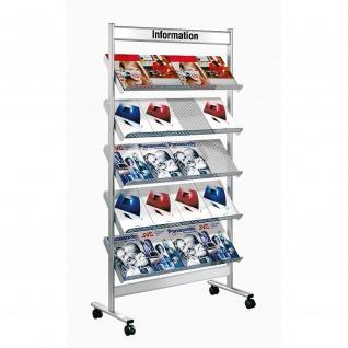 Kerkmann Prospektregal 3487 Artline 20x DIN A4 auf Rollen fahrbar