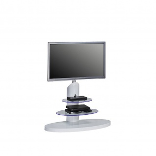 TV-Rack weiß Hochglanz - Klarglas Maße 1100 x 1315 x 470 mm