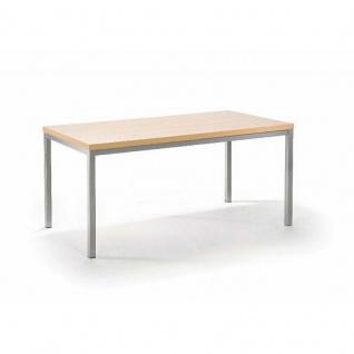 Mayer Tisch Esstisch XCite Dining 3059, Gestell perlsilber, Dekor Tischplatte