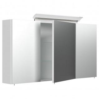 Posseik Design-LED-Spiegelschrank 120cm weiß hochglanz