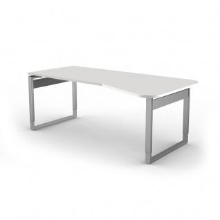 Kerkmann Schreibtisch 4035 Form 5 Freiform 195x80/100x68-82 cm Bügel-Gestell höhenverstellbar