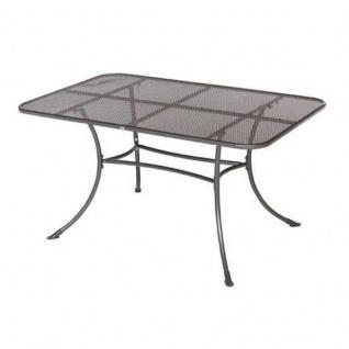 Tisch Gartentisch robust aus Metall in Grau 145x90x72cm