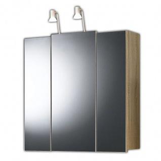 Badmöbel Badezimmer Gästebad Spiegelschrank 3-türig, mit Halogenstrahler