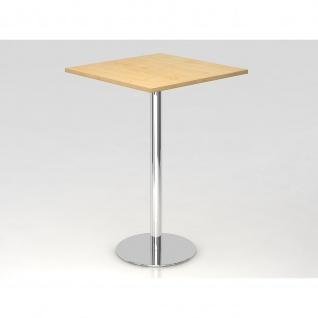 Bistro Tisch Stehtisch Besprechungstisch 08 chrom quadratische Tischplatte 80x80cm - Vorschau 5