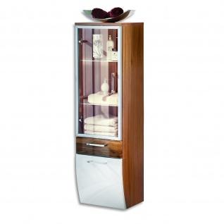 Badmöbel Badezimmer Gästebad Hochschrank Rima, mit Glastür, geschwungener Unterbau - Vorschau 4