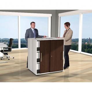 Kerkmann Schiebetürenregal Büroregal Form 4 Fb. weiss / wenge 3 Ordnerhöhen, abschließbar 100 x 40 x 111 cm
