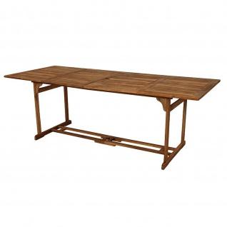 Gartentisch Holztisch 220 x 90 cm aus Akazienholz