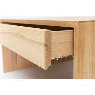 Woodlive Massivholz Couchtisch Alan mit Schubkasten Kernbuche/Wildeiche Maße 75 x 75 cm - Vorschau 5