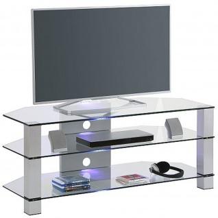 Maja TV-Rack Metall Alu - Klarglas Maße: 1200 x 500 x 500 mm