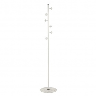 Garderobenständer Standgarderobe Metall/Marmor weiß H:180 cm