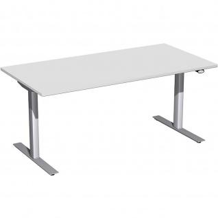 Elektro Flex Schreibtisch elektrisch höhenverstellbar 1600x800x650-1250cm diverse Dekore - Vorschau 4