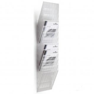 Wand Prospekthalter Set FLEXIBOXX 12, A4 Hochformat 12 Fächer transparent