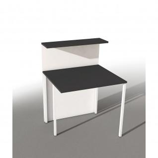 Kerkmann Design-Theke Cento Erweiterungselement 3860 100x80x110cm weiß-anthrazit