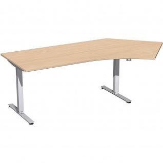 Elektro Smart Winkel-Schreibtisch 135° rechts oder links elektrisch höhenverstellbar 2166 x1130 mm diverse Dekore - Vorschau 4